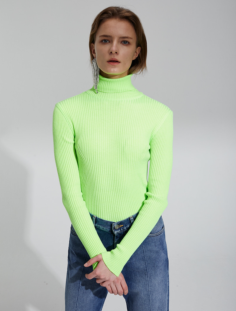 OPEN BACK KNIT FLUO YELLOW