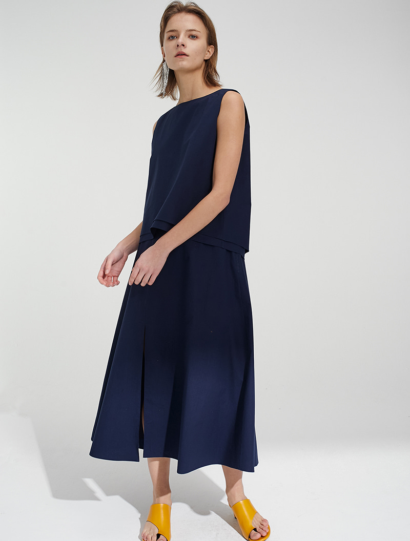SLIT SKIRT NAVY