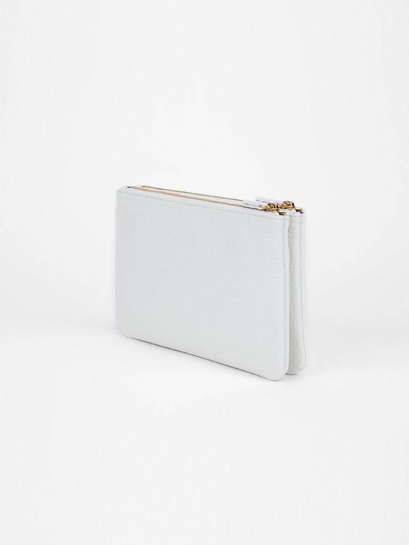 POUCH-DOUBLE-WHITE [LESAC]