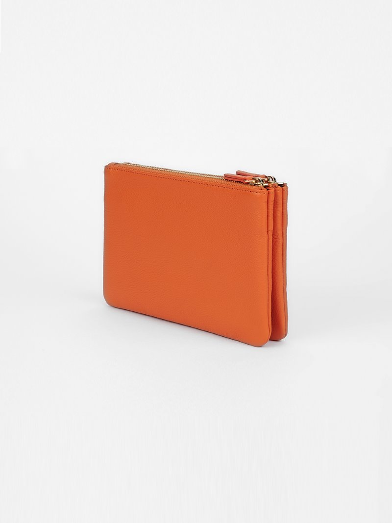 POUCH-DOUBLE-ORANGE [LESAC]