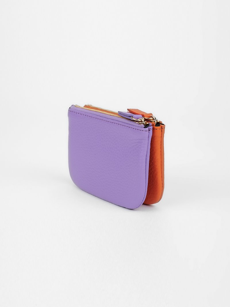 WALLET-DOUBLE MIX-ORANCE x LAVENDER [LESAC]