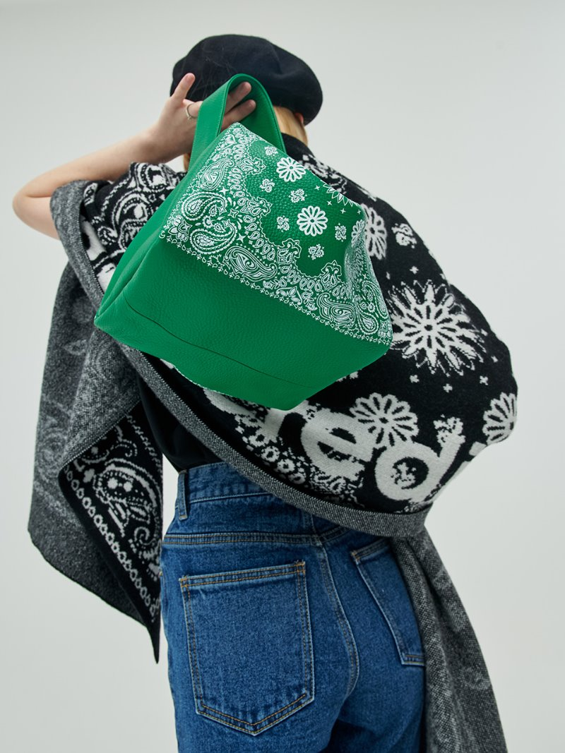 BANDANA PETIT GREEN [ALL LEATHER]